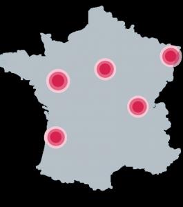 Carte de présence des agences M'GYS